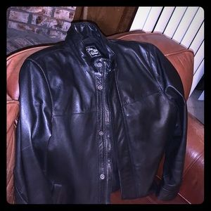 Saks Fifth Avenue Mens Leather Jacket